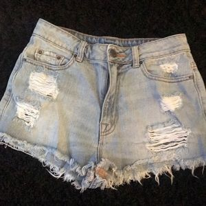 Urban outfitters BDG light wash jean shorts